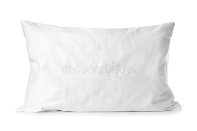 Blank soft pillow. On white background stock photos