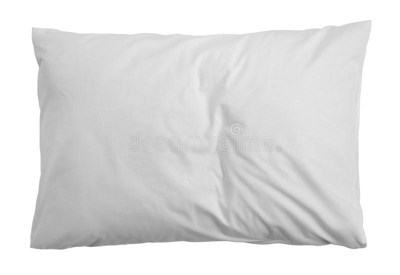 Blank soft pillow on white background royalty free stock images