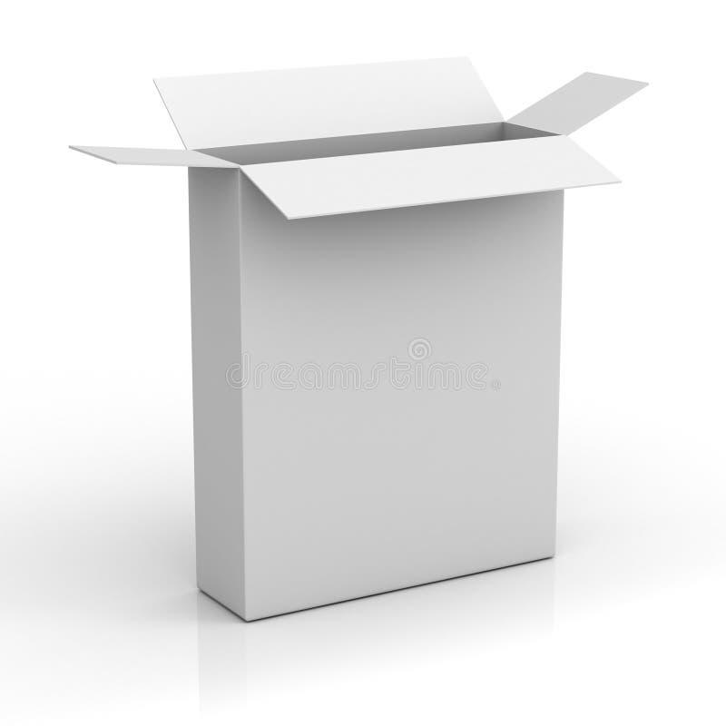 Blank software box vector illustration
