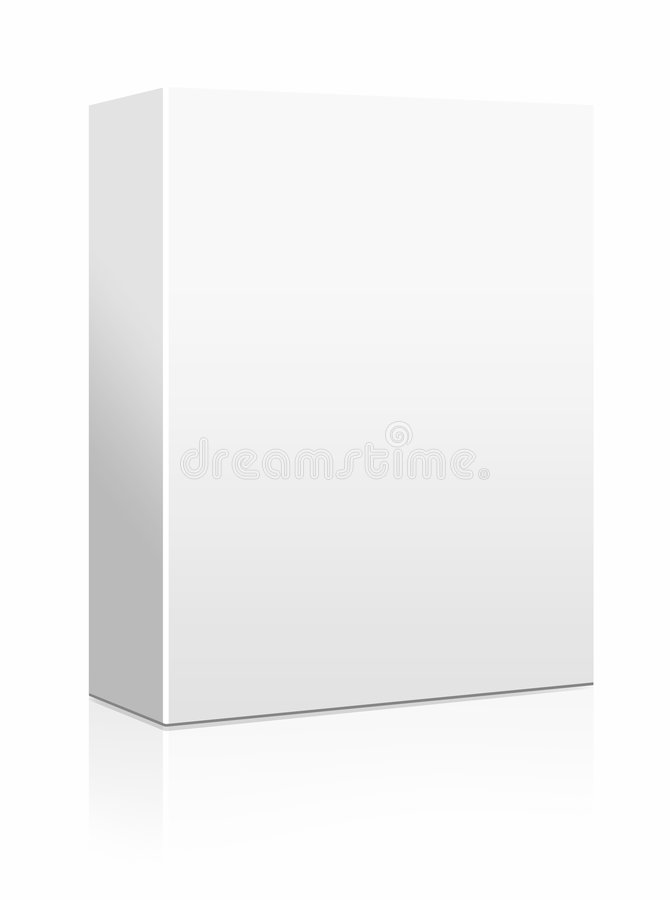 Blank software box. Packaging on white background