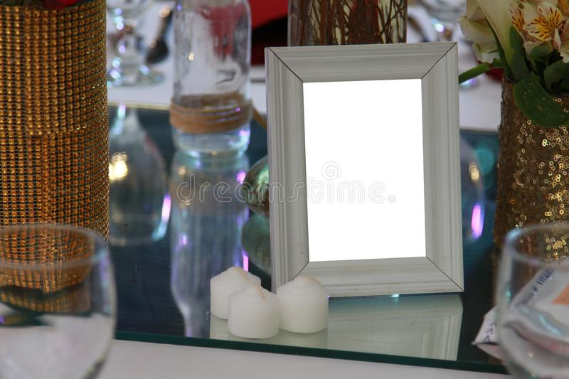 Blank space photo frame stock images