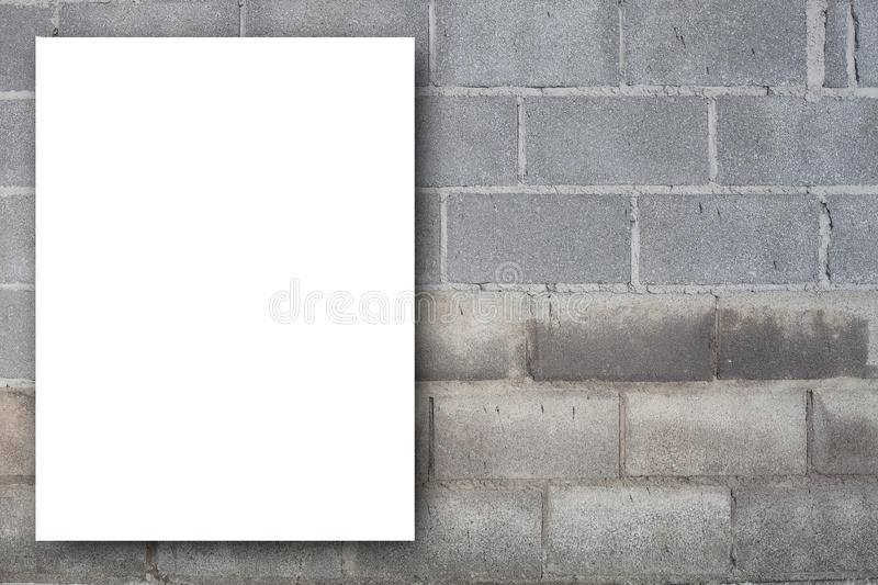 Blank space white billboard old dirty texture, grunge wall background. stock photo