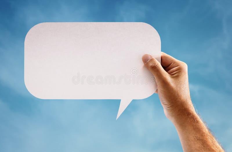 Blank speech bubble stock photo