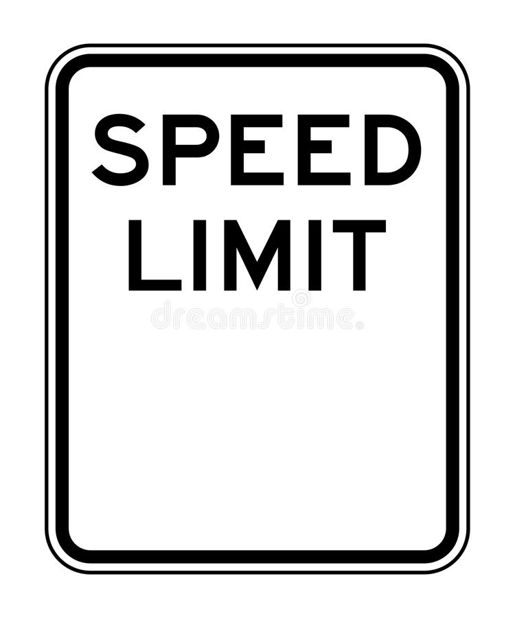 Download Blank speed limit sign stock illustration. Image of element - 22657666