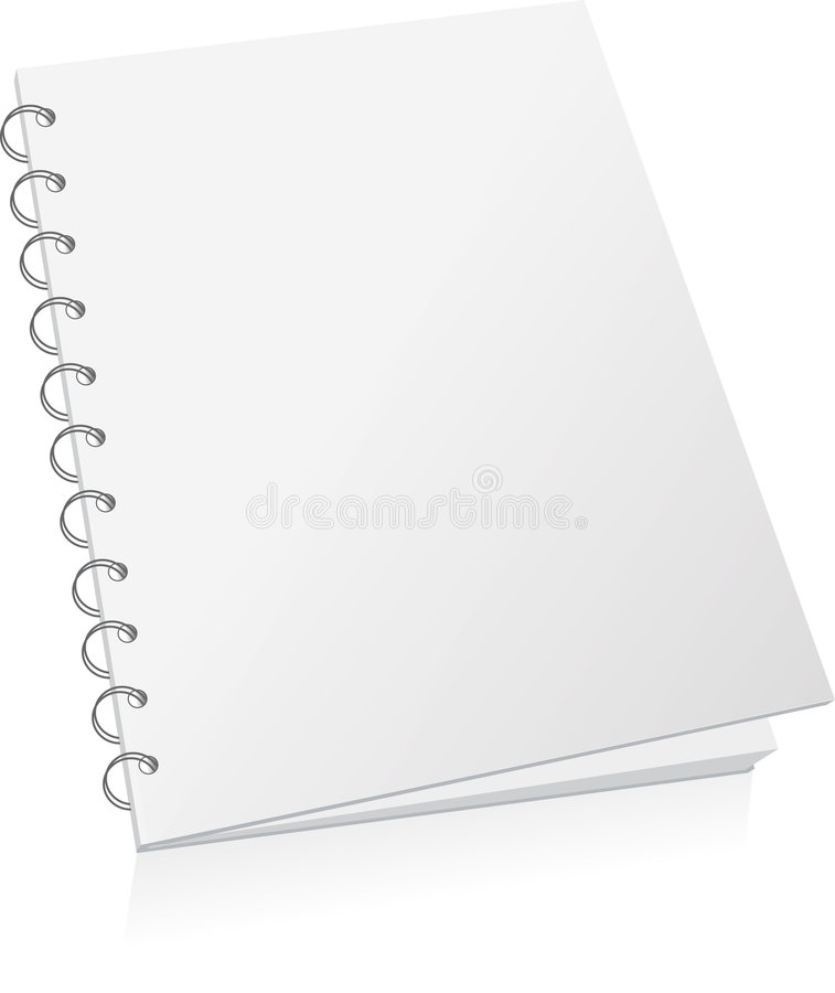 Blank spiral book royalty free illustration
