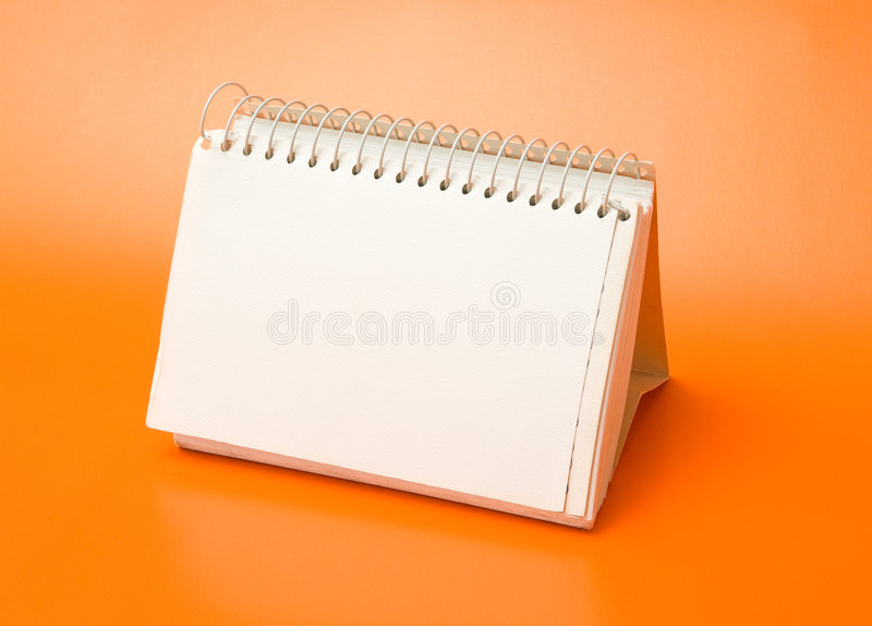 Blank Spiral Book Royalty Free Stock Image
