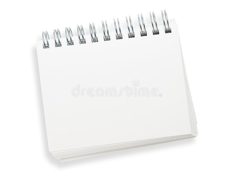 Blank Spiral Memo Pad Isolated On White. Stock Image - Image: 11251381