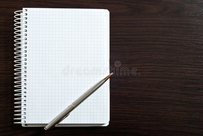 Blank Spiral Note Pad Stock Photography