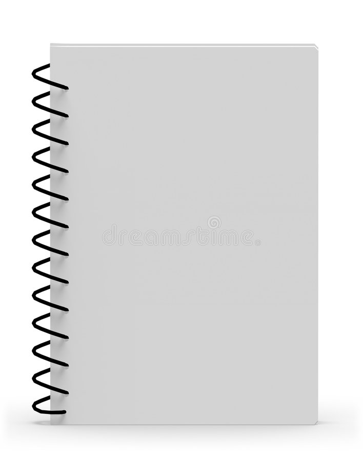 Blank spiral notebook. 3d high quality rendered blank spiral notebook vector illustration