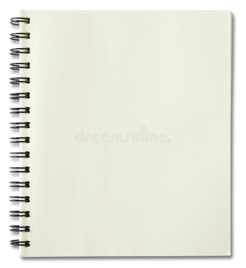 Notebook Cover Background : Blank spiral notebook stock photo image