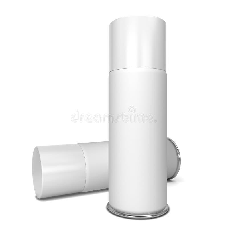 blank spray vektor illustrationer