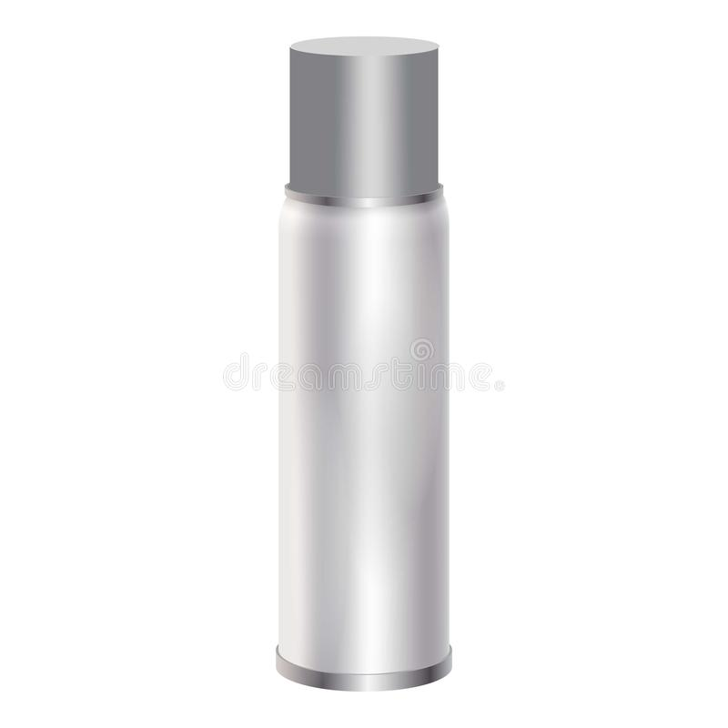 Blank spray can mockup, realistic style stock illustration