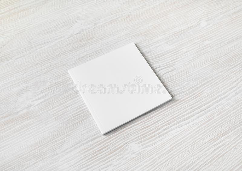 Blank square brochure royalty free stock photo