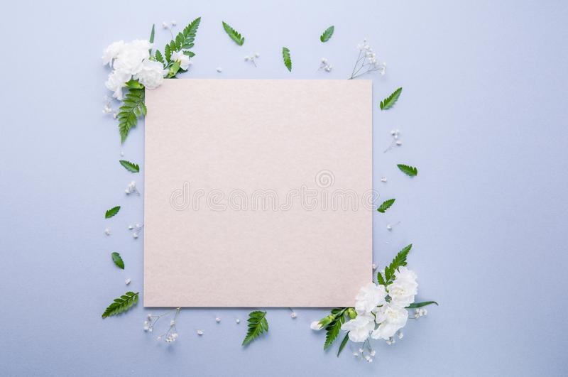 Blank Square Stationary Template royalty free stock image