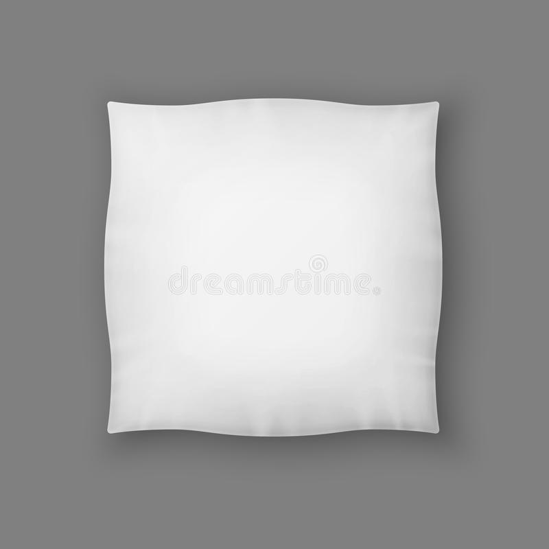 Blank Square White Pillow. Vector royalty free illustration