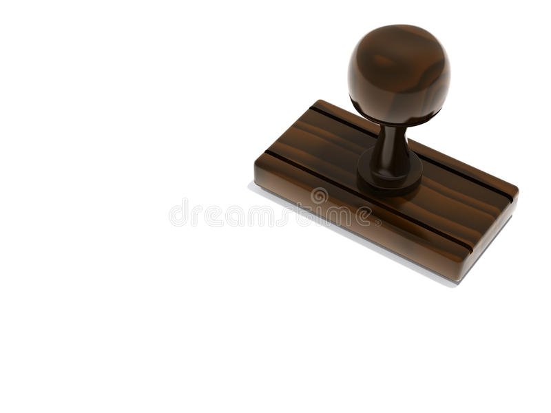 Blank stamp with copy space stock illustration