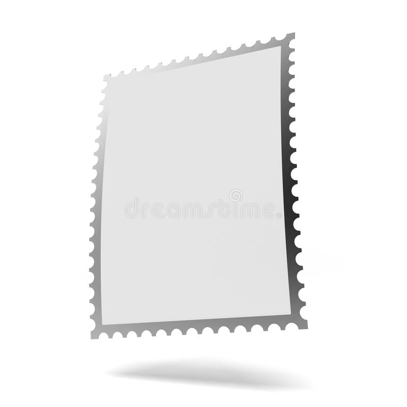 Blank stamp template royalty free illustration