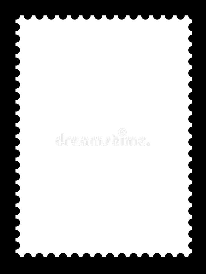 A blank stamp template. S ready to be filled with your photos stock illustration