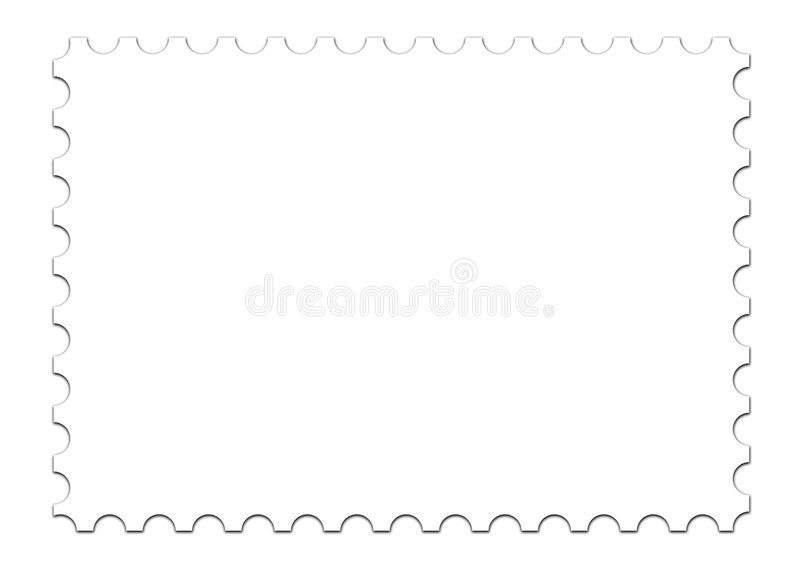 Blank Stamp Template On White Stock Illustration  Illustration Of