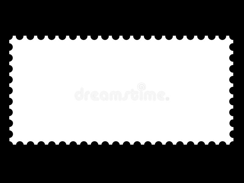 A blank stamp templates. Ready to be filled with your photos stock illustration