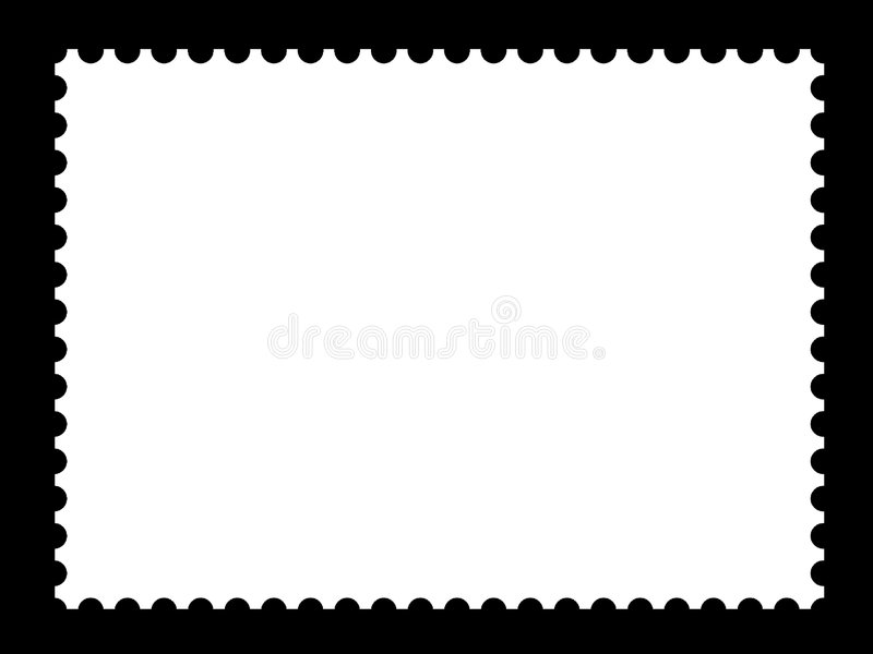 A blank stamp templates. Ready to be filled with your photos royalty free illustration