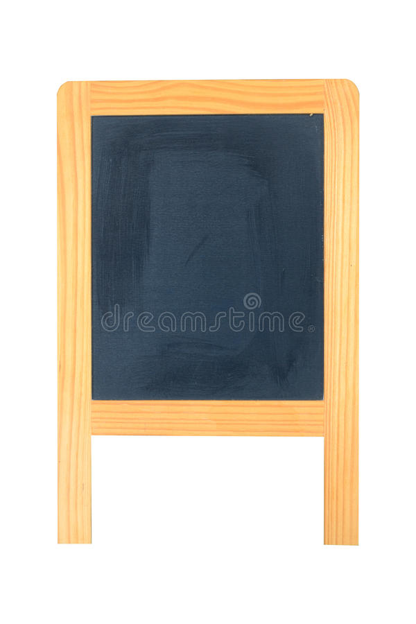 Blank Stand Blackboard. Isolated on White royalty free stock photos