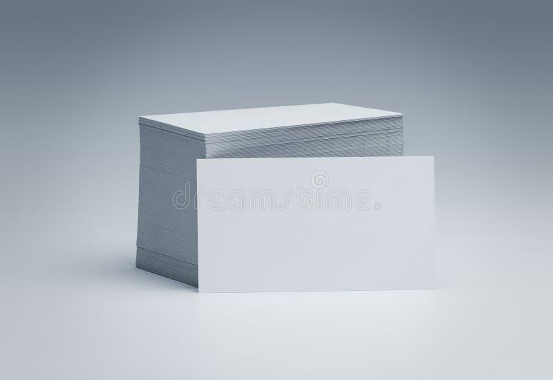 blank stapel för affärskort royaltyfria foton