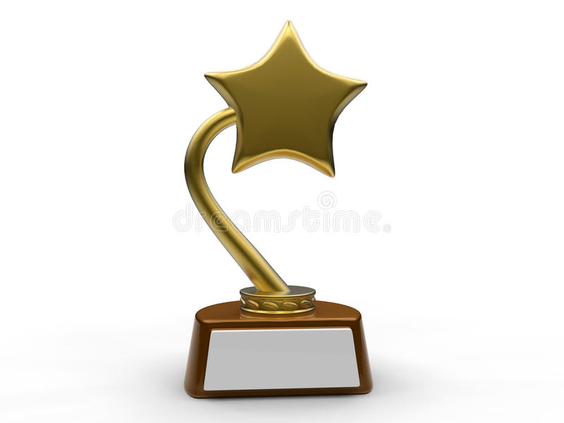 Blank star award concept royalty free illustration