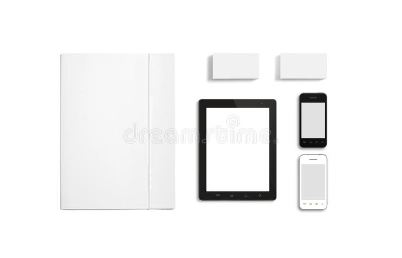 blank stationery corporate id template stock photo image of tablet