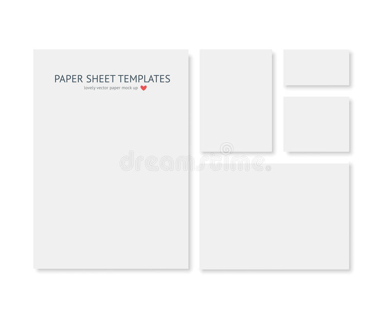 Blank stationery and corporate identity template. Consist of realistic vecto paper different sizes. Blank stationery and corporate identity template. Consist of stock illustration