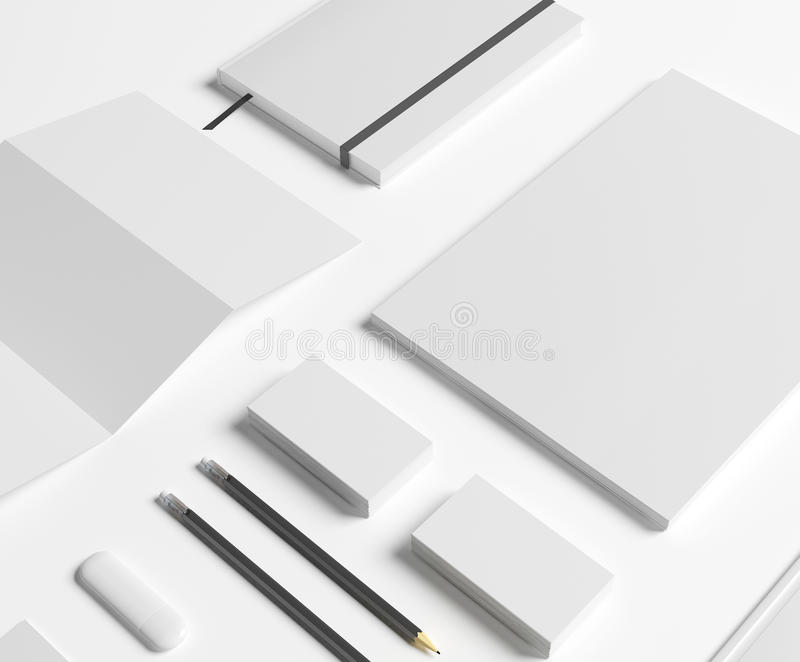 Blank Stationery set on white vector illustration