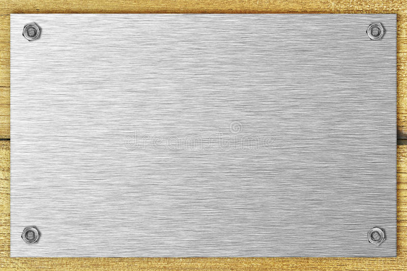 Download Blank steel plate stock image. Image of bolted, brushed - 19135949