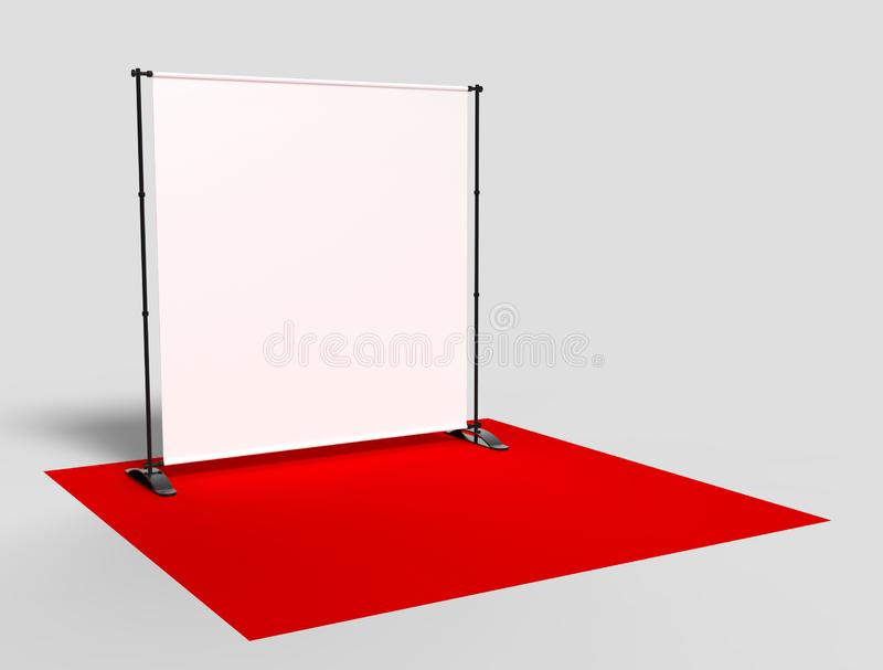 Blank Step And Repeat Telescoping Backdrop Banner 3d Render Illustration Stock Illustration Illustration Of Design Communication 125355294