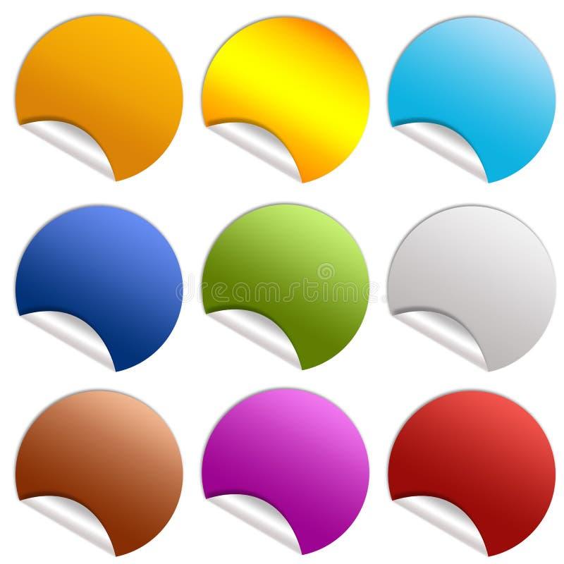 Blank sticker vector illustration