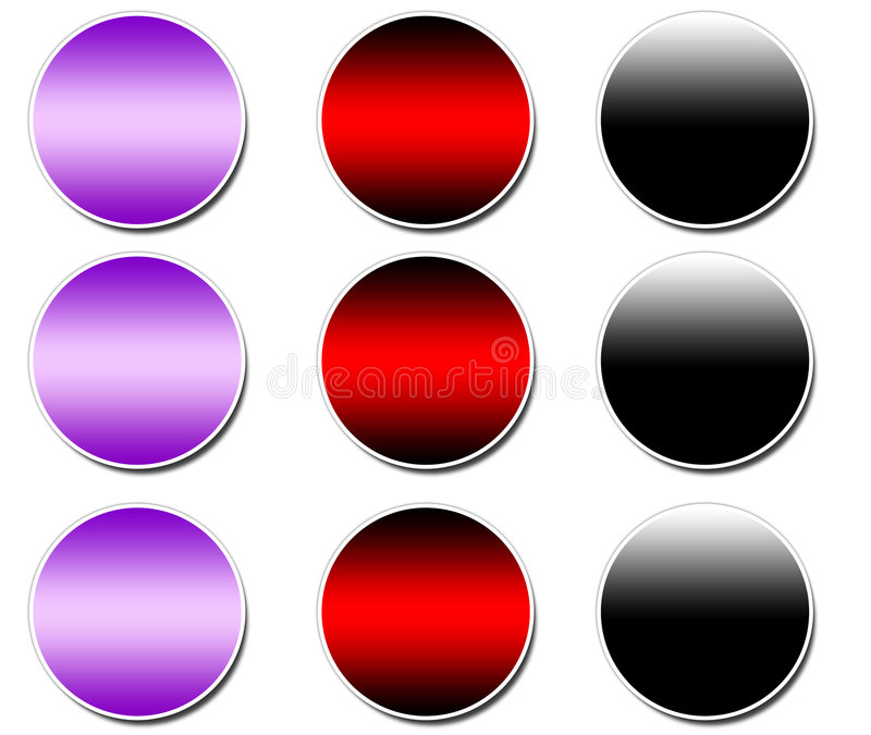 Download Blank Sticker buttons stock illustration. Image of gradient - 4014310
