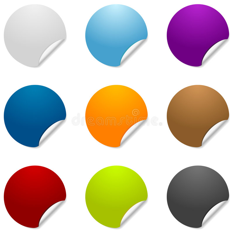 Free Blank Sticker Icons Royalty Free Stock Photo - 2584405