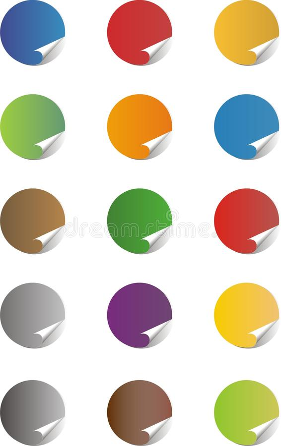 Blank Sticker Icons Stock Photography