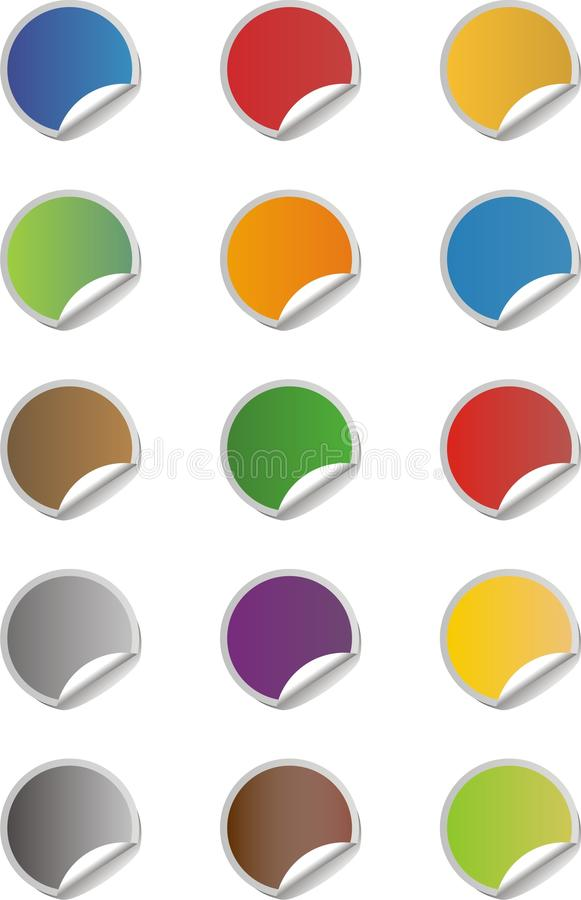 Download Blank sticker icons set stock vector. Image of internet - 32197315