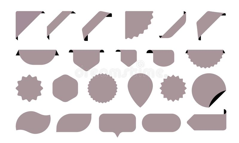Stickers icons for shop tags, labels and sale posters or banners vector stickers vector illustration