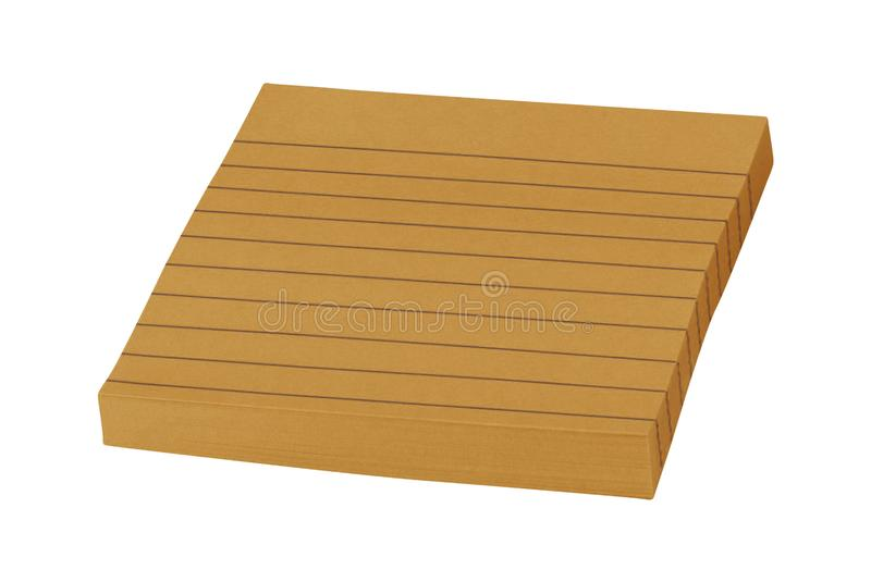 Blank sticky note isolated. On white background stock images