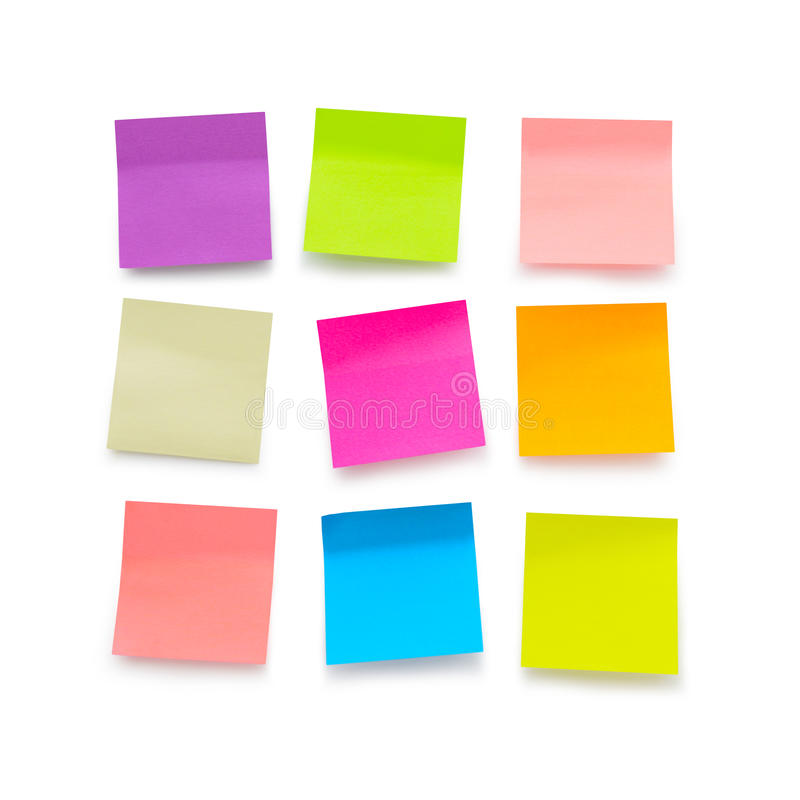Free Blank Sticky Notes Royalty Free Stock Images - 48486999
