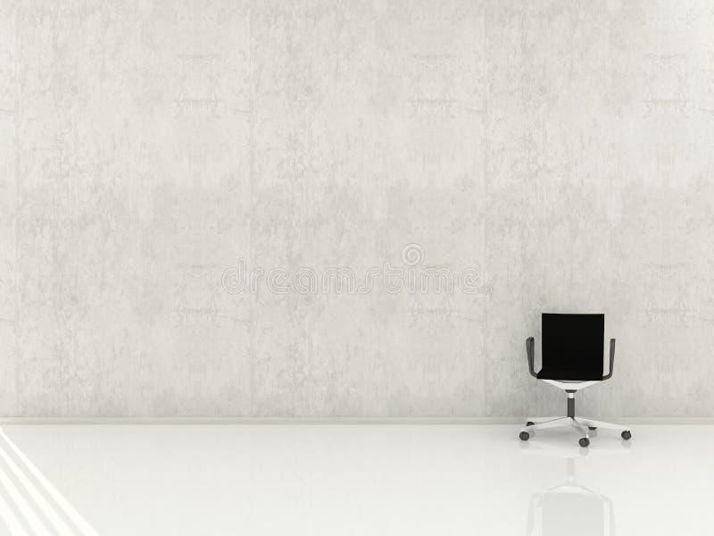 blank stolsframsida som är modern till väggen royaltyfri illustrationer