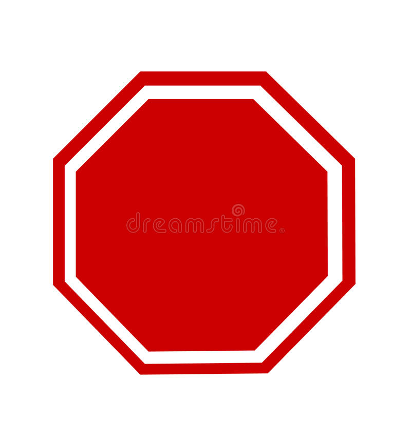 Free Blank Stop Sign Royalty Free Stock Images - 83474669