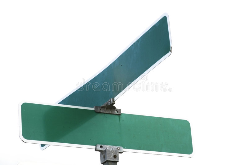 Blank Street Sign stock images