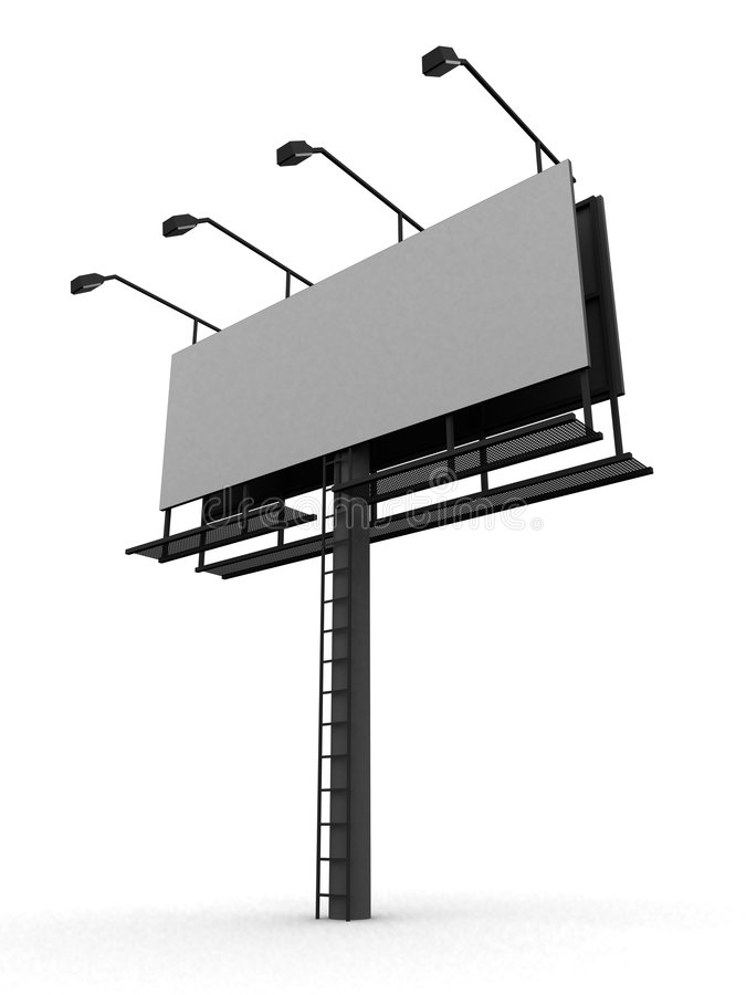 Download Blank street sign stock illustration. Image of marketing - 4129478