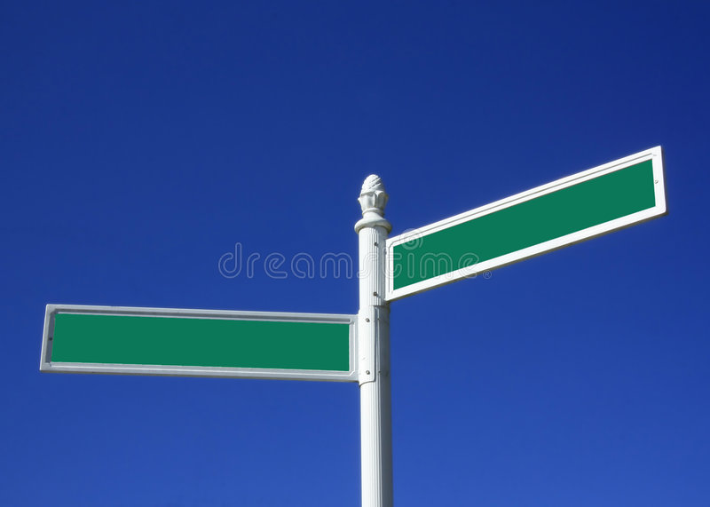 Download Blank street sign stock image. Image of green, city, confusion - 7954039