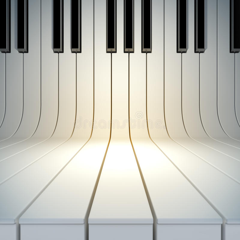 Blank surface from piano keys. A 3d illustration of blank surface from piano keys. Blank template layout of music placard vector illustration