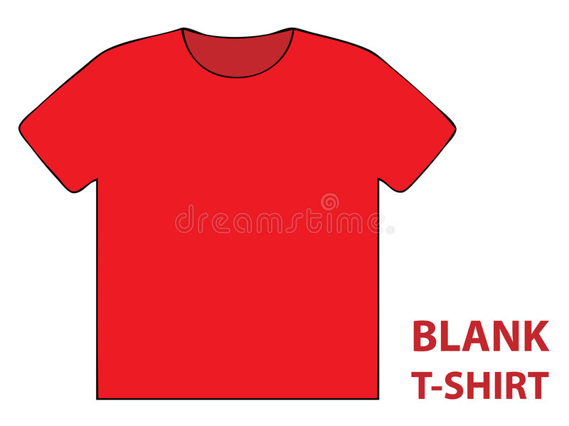 Download Blank t-shirt stock vector. Image of shirt, blank, tight - 4780886