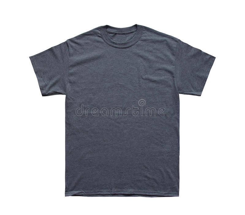 Blank T Shirt color dark heather template royalty free stock photo