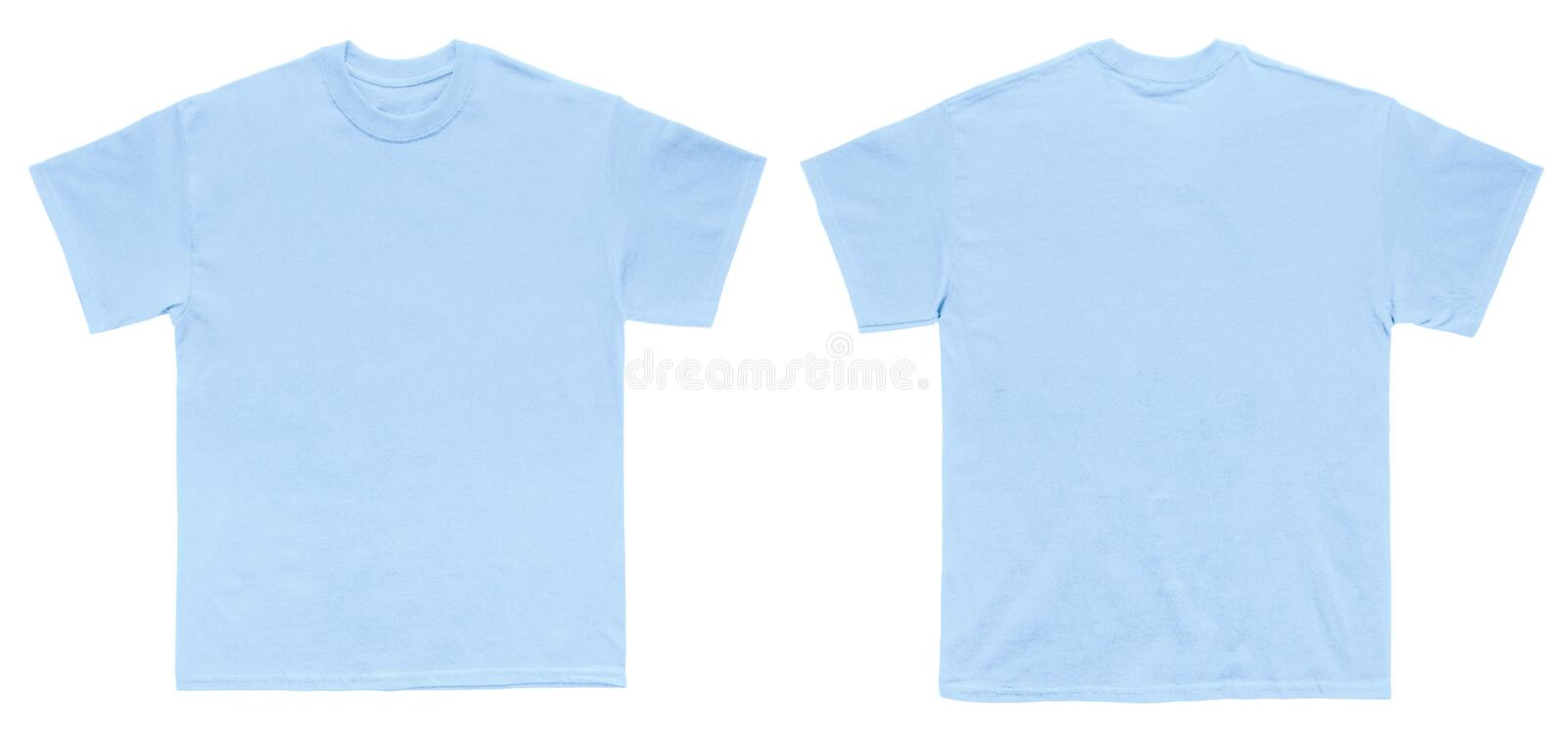 Blank t shirt color light blue template front and back for Blue t shirt template